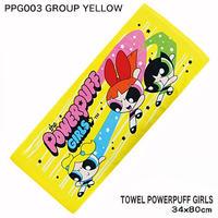 【パワーパフガール】フェイスタオル (GROUP YELLOW)