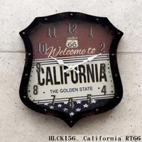 ダイカットクロック(カリフォルニア/ROUTE66)