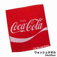 【コカコーラ】 ウォッシュタオル(ジャガード/レッド)