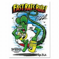 Rat Fink x MOON Fast Rat Rule ステッカー