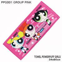 【パワーパフガール】フェイスタオル (GROUP PINK)