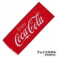 【コカコーラ】 フェイスタオル(ジャガード/レッド)