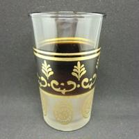 グラス・コップ モロッコプリントグラス(ミントティーグラス)茶