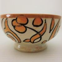 インテリア【飾り皿・陶器】モロッコ陶器10cmボール(FES)オレンジ