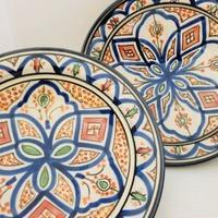 インテリア飾り皿 モロッコ陶器25cm