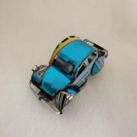 マグネット ミニカー ブリキ缶リメイク(マダガスカル)⑧【郵便お届け】