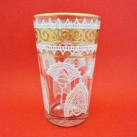 ミントティーコップ・グラス モロッコプリント白金/扇