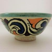 インテリア【飾り皿・陶器】モロッコ陶器10cmボール(FES)みどり
