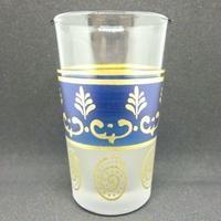 グラス・コップ モロッコプリントグラス(ミントティーグラス)ブルー