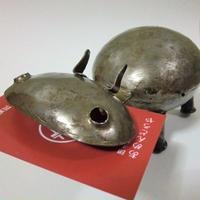 鉄製カバ置物 リメイク(マリ)