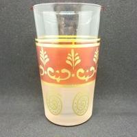 グラス・コップ モロッコプリントグラス(ミントティーグラス)オレンジ