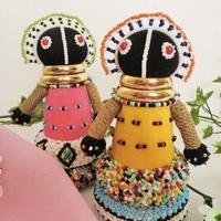 人形 安産お守りビーズ人形 ンデベレ族(南アフリカ共和国)
