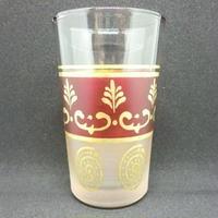 グラス・コップ モロッコプリントグラス(ミントティーグラス)レッド