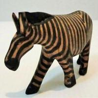 木彫り置物 シマウマ(ケニア)
