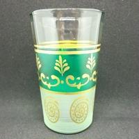 グラス・コップ モロッコプリントグラス(ミントティーグラス)グリーン