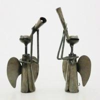 笛吹きエンジェル(天使の置物フック付き)鉄製(マリ)