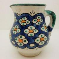 インテリア小物 ミルクポット花柄・青 モロッコFES(フェズ)陶器