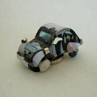 マグネット ミニカー ブリキ缶リメイク(マダガスカル)①【郵便お届け】