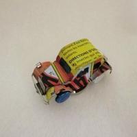 マグネット ミニカー ブリキ缶リメイク(マダガスカル)⑤【郵便お届け】