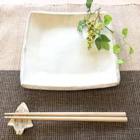 笠間焼 / 角皿(粉引き)