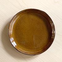 笠間焼 / うすくて軽い丸皿(M)(飴釉)