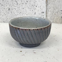 笠間焼 / 鎬のぐい呑(鉄×透明)