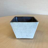 笠間焼 / 角型こばち(手塗り粉引)