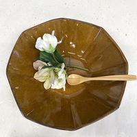 笠間焼 / うすくて軽いオクタンボウル(L)(飴釉)