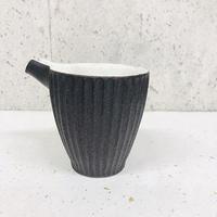 笠間焼 / 片口酒器C(鎬黒×粉引)