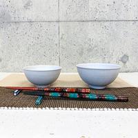 笠間焼 / ご飯茶わん(飛び鉋 大小2個セット)