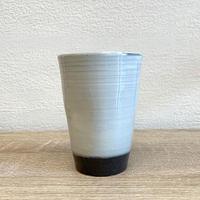 笠間焼 / 粉引のタンブラー(えくぼ)