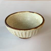 笠間焼 / 鎬のぐい呑(粉引/貫入)