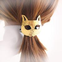 キャットマスクの髪飾り