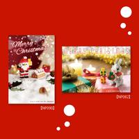 nanoblock®ポストカード  クリスマスセット(3)