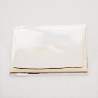 【S-005】サンキューカード 〜コットン・布目〜