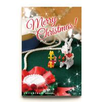 【NP083】nanoblock®クリスマスカード 〜クリスマスうさぎ〜