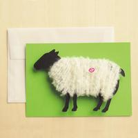 【ZA004】羊の毛刈りメッセージカード