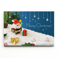 【NP080】nanoblock®クリスマスカード 〜サンタとえんとつ〜
