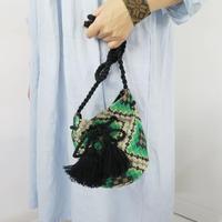 BINDU 刺繍モチラバッグ グリーン