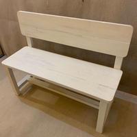背板付きベンチ(白ペンキ)