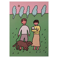 COUPLE & DOG | A3 poster(受注生産商品)