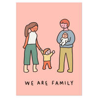 FAMILY OF FOUR 1 | A3 poster(受注生産商品)