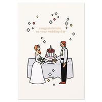 WEDDING COUPLE 1 | Cake card