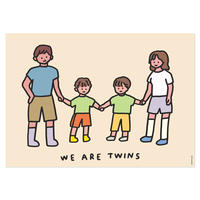 TWINS FAMILY (BROTHERS)   A3 poster(受注生産商品)