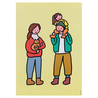 FAMILY OF THREE & CAT | A3 poster(受注生産商品)