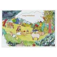 ANIMALS   Cake card