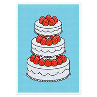 STRAWBERRY CAKE SKYBLUE   A3 RISO poster(受注生産商品)