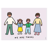 TWINS FAMILY (BROTHER & SISTER)   A3 poster(受注生産商品)