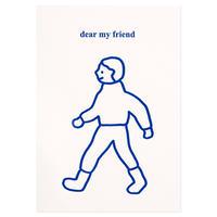 WALK WALK boy blue | Pressed Card