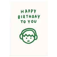 BOY BIRTHDAY   Pressed Card